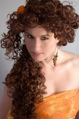Long & Lovely - Redhead, 3a, Updos, Long hair styles, Spring hair, Styles, Female, Curly hair Hairstyle Picture