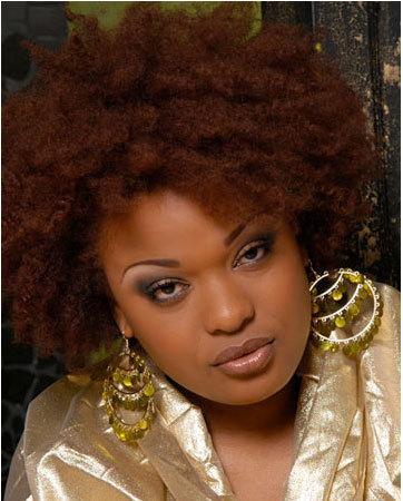 Auburn Afro  - Redhead, 4a, 4b, Medium hair styles, Kinky hair, Afro, Styles, Female, Adult hair Hairstyle Picture
