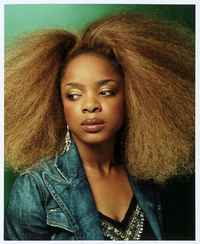 Leela James - Brunette, Blonde, 4a, Celebrities, Medium hair styles, Afro, Female, Adult hair Hairstyle Picture