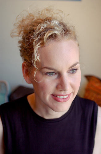 Fron Blonde Curly View - Updos, Formal hairstyles Hairstyle Picture
