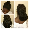 Criss Cross Braided Low Bun