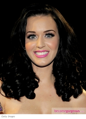 katy  - Brunette, Celebrities, Long hair styles, Female, Curly hair, Black hair, Adult hair Hairstyle Picture