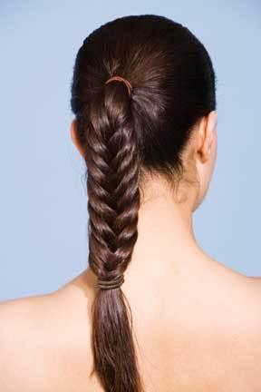 Long braid - Brunette, Long hair styles, Braids, Styles, Female, Adult hair, Straight hair Hairstyle Picture