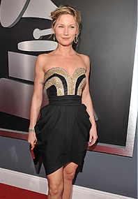 Jennifer Nettles - Blonde, Celebrities, Medium hair styles, Updos, Special occasion, Female, 2c, 2009 Grammy Awards Hairstyle Picture