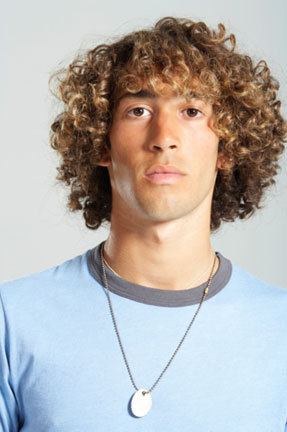 Curly Guy - Blonde, Male, Medium hair styles, Readers, Styles, Curly hair, Teen hair, Adult hair Hairstyle Picture