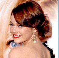 French Twist - Redhead, Updos, Wedding hairstyles, Styles, Female, Adult hair, Straight hair, Prom hairstyles, Formal hairstyles, Homecoming hairstyles, Knots, Buns, French twists Hairstyle Picture
