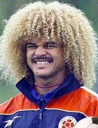 Carlos Valerama - Blonde, 3c, Celebrities, Male, Medium hair styles, Kinky hair, Afro, Curly hair Hairstyle Picture