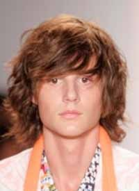 Beachy Waves - 2a, Brunette, Wavy hair, Male, Medium hair styles, Styles, Teen hair Hairstyle Picture