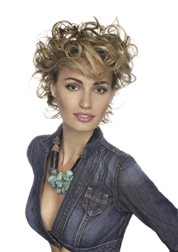 Aquage: Sassy curls - Blonde, 2b, Wavy hair, Short hair styles, Styles, Female, Curly hair Hairstyle Picture