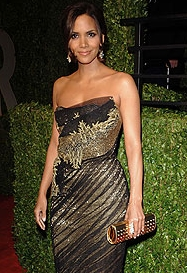 Halle Berry - Brunette, Celebrities, Updos, Female, 2c, 2009 Academy Awards Hairstyle Picture