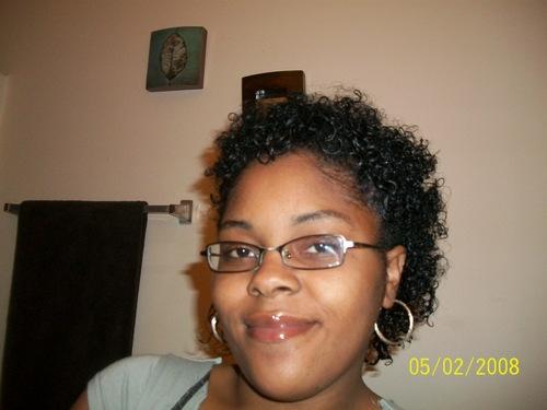 wash n go w/ ecostyler gel - Short hair styles, Readers, Female, Curly hair, Black hair, Adult hair Hairstyle Picture