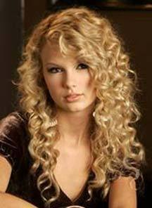 Taylor Swift - Blonde, 3b, Celebrities, Long hair styles, Styles, Female, Curly hair, Teen hair Hairstyle Picture