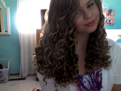 Right Before Leaving To A Party! - Blonde, Long hair styles, Readers, Female, Curly hair, Teen hair Hairstyle Picture