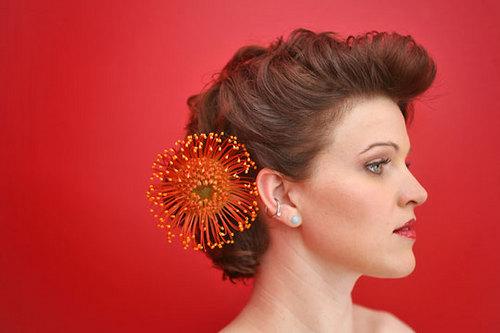 Simple Elegance - Brunette, Wavy hair, Short hair styles, Updos, Wedding hairstyles, Summer hair, Styles, Female Hairstyle Picture