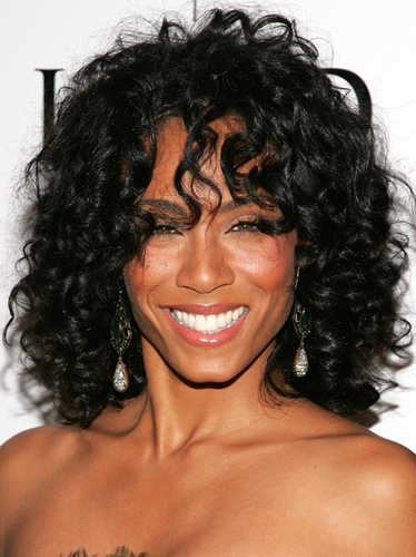 Jada Pinkett Smith - Celebrities, Kinky hair, Long hair styles, Female, Black hair, Spiral curls, Curly kinky hair Hairstyle Picture
