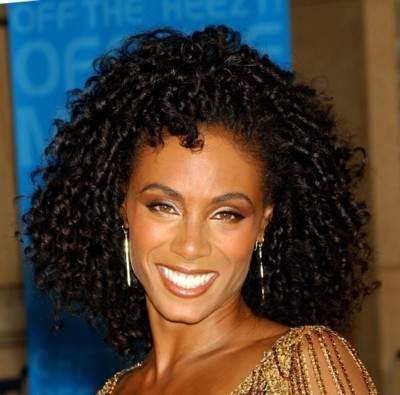 Jada Pinkett-Smith - Brunette, 3c, Celebrities, Medium hair styles, Female, Curly hair, Black hair, Adult hair, Formal hairstyles Hairstyle Picture