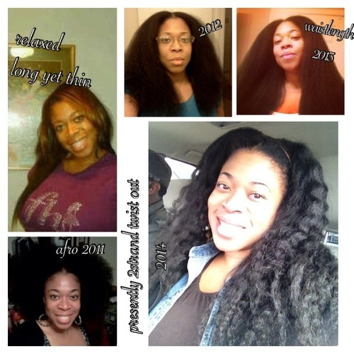 My Natural Hair Journey - Brunette, 3c, Long hair styles, Afro, Readers, Female, Makeovers, Black hair, Adult hair, Afro puff, Twist out, Curly kinky hair Hairstyle Picture