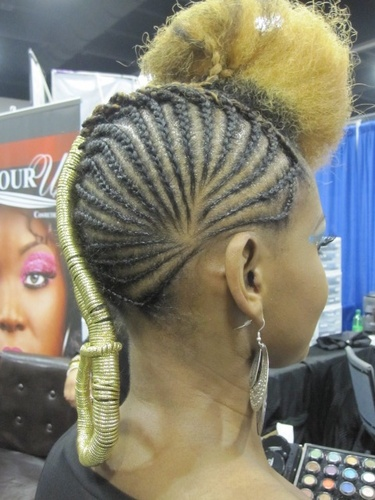 rare1.jpg - Blonde, 4a, 4b, Medium hair styles, Updos, Kinky hair, Braids, Female, Formal hairstyles, Natural Hair Celebration, Textured Tales from the Street Hairstyle Picture