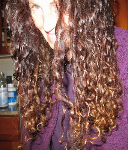 curly and long at age 60 - Brunette, 3b, Mature hair, Long hair styles, Readers, Female, Curly hair Hairstyle Picture