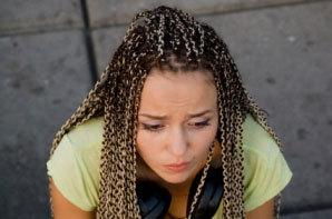 Box Braids - Brunette, Blonde, Long hair styles, Styles, Female, Adult hair, Box braids Hairstyle Picture