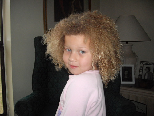 Diva - Blonde, 3c, Kids hair, Afro, Readers, Curly hair Hairstyle Picture