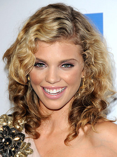 Anna Lynne McCord - Blonde, Celebrities, Long hair styles, Female, Curly hair Hairstyle Picture