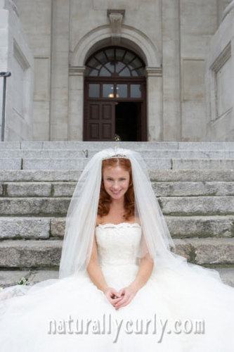 Wedding Hairstyle - Redhead, Wavy hair, Long hair styles, Wedding hairstyles, Styles, Female, Adult hair Hairstyle Picture
