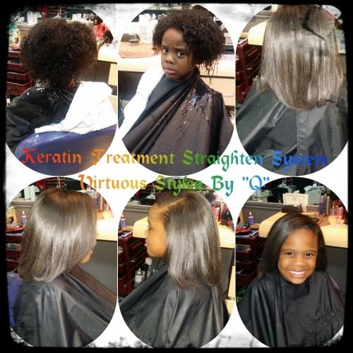 Keratin Treatment  - 4a, Medium hair styles, Kids hair, Readers, Female, Makeovers, Black hair, Curly kinky hair Hairstyle Picture