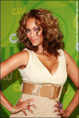 Tyra Banks, model - Brunette, 3b, Celebrities, Medium hair styles, Female Hairstyle Picture
