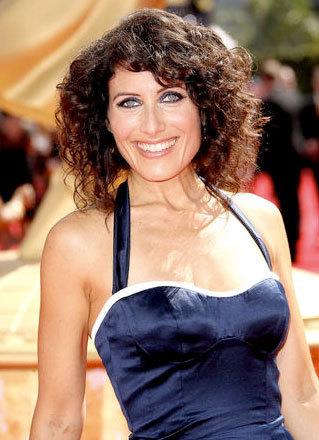 Lisa Edelstein - Brunette, Celebrities, Medium hair styles, Female, Curly hair, 2009 Emmy Awards Hairstyle Picture