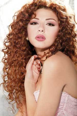 Myriam Fares - Redhead, 3a, Celebrities, Long hair styles, Female, Curly hair Hairstyle Picture