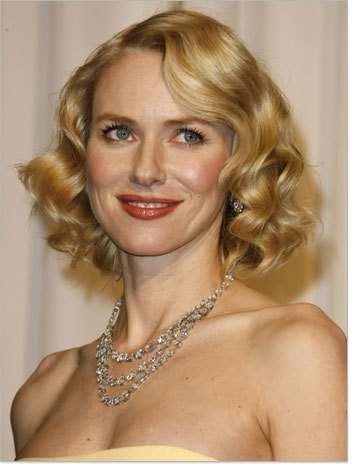Naomi Watts - Blonde, Celebrities, Wavy hair, Medium hair styles, Female, Curly hair, Finger waves, Bob hairstyles Hairstyle Picture