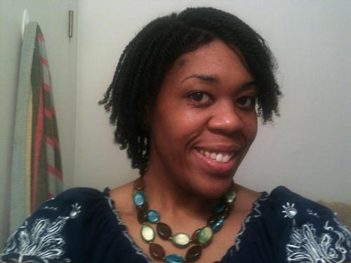 Dry Micro Twists - 3b, Medium hair styles, Twist hairstyles, Female, Curly hair, Black hair, Adult hair Hairstyle Picture