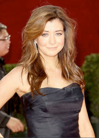 Ayson Hannigan - Redhead, Celebrities, Long hair styles, Female, 2009 Emmy Awards Hairstyle Picture