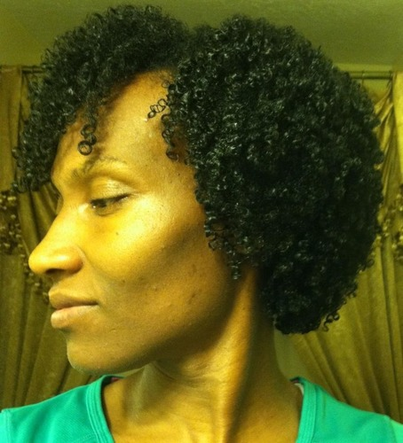 My Wash and Go - 3c, Medium hair styles, Kinky hair, Readers, Female, Black hair, Adult hair, Curly kinky hair Hairstyle Picture