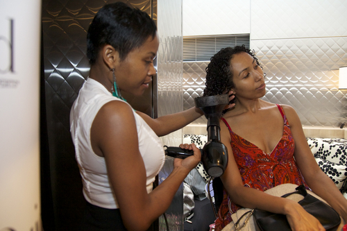 Curly Receives TLC on Her Curls  - Medium hair styles, Curly hair, Black hair, Adult hair, Textured Tales from the Street Hairstyle Picture
