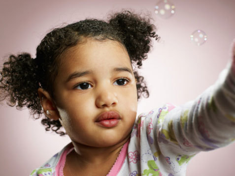 Afro puff - Brunette, Short hair styles, Kids hair, Kinky hair, Styles, Female, Black hair, Afro puff, Pigtails Hairstyle Picture