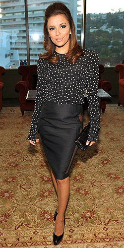Eva Longoria Parker - Brunette, Celebrities, Wavy hair, Medium hair styles, Female, Curly hair Hairstyle Picture