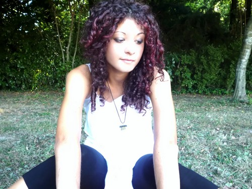 At the park (: - Redhead, 3b, 3a, Medium hair styles, Readers, Female, Curly hair Hairstyle Picture