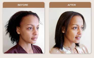 Brazilian Blowout Straightening - Brunette, Medium hair styles, Female, Makeovers, Adult hair Hairstyle Picture
