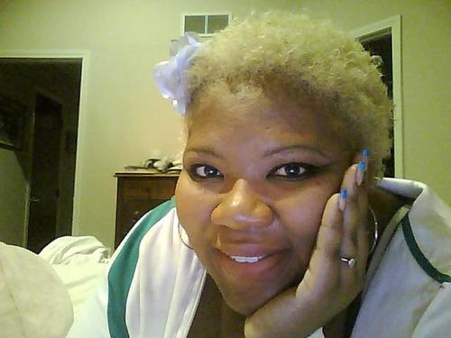 Glad 2 b Natural - Blonde, 4a, Short hair styles, Kinky hair, Afro, Readers, Female Hairstyle Picture