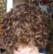Back view of short curly do