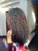 waist length curls