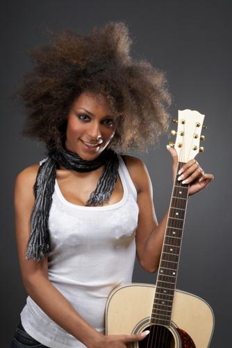 Afro  - Brunette, Medium hair styles, Kinky hair, Long hair styles, Afro, Styles, Female, Adult hair, 4c Hairstyle Picture