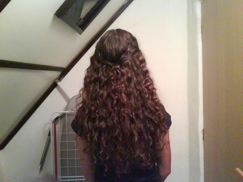 Growing Waves (2nd day hair& - Brunette, 2b, Long hair styles, Readers, Female, Teen hair, 2c, Adult hair Hairstyle Picture
