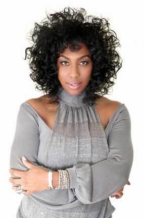 Faatemah Ampey - Brunette, 3a, Celebrities, Medium hair styles, Female, Curly hair Hairstyle Picture