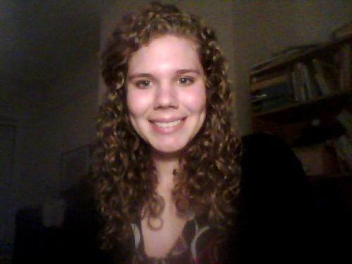 CG Week 1: Happy Camper! - Blonde, 3b, Long hair styles, Readers, Female, Curly hair, Adult hair Hairstyle Picture