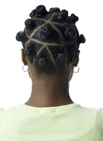Bantu Knots - Brunette, Short hair styles, Kinky hair, Styles, Female, Black hair, Adult hair, Bantu knots, Nubian knots Hairstyle Picture