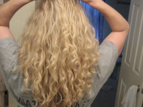 This is just after I let it dry  - Blonde, 3a, Medium hair styles, Readers, Female, Curly hair, Adult hair Hairstyle Picture
