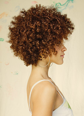 Bumble and bumble - Brunette, Blonde, 3c, Short hair styles, Kinky hair, Afro, Styles, Female, Curly hair Hairstyle Picture